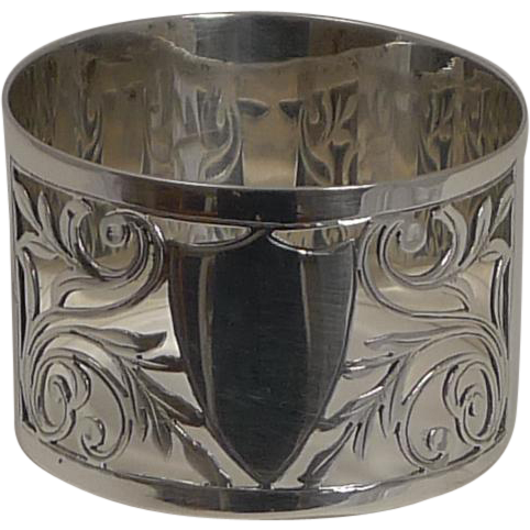 English Sterling Silver Napkin Ring - 1928