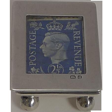 Edwardian English Sterling Silver Postage Stamp Box