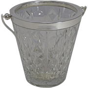 Vintage Hand Cut Crystal Ice Bucket by Val St. Lambert c.1930
