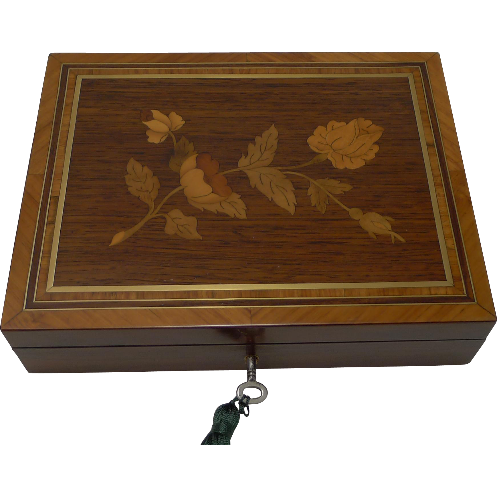 Beautifully Inlaid French Table or Desk Box c.1860