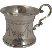Vintage English Sterling Silver Christening Mug / Child's Cup - 1923