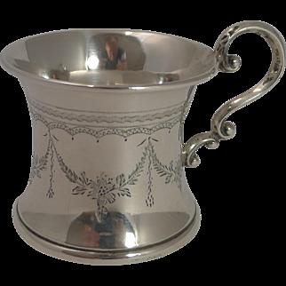 Vintage English Sterling Silver Christening Mug / Child's Cup - 1923