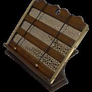 Antique English Oak & Brass Book Rest / Lectern - Reg. No. For 1894