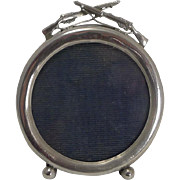 Mini Victorian English Sterling Silver Frame - Rifles - 1899