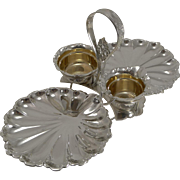 Antique Silver Plate Strawberry Set by James Dixon & Son c.1890