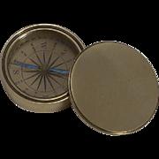 Antique English Pocket Compass in Brass Case c.1880