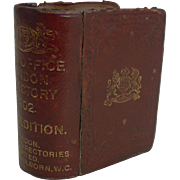 Novelty Travelling Inkwell - Kelly's Post Office Directory - 1902