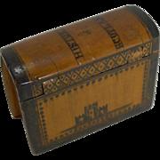Antique Scottish Book Form Snuff Box - History of Scotland c.1840