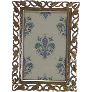 Quality Antique Polished Brass Photograph Frame c.1880