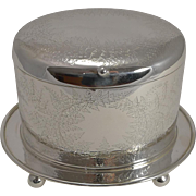 Fine Victorian Fern Engraved Biscuit Box by Mappin and Webb c.1890