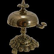Antique English Brass Desk / Counter Bell c.1870