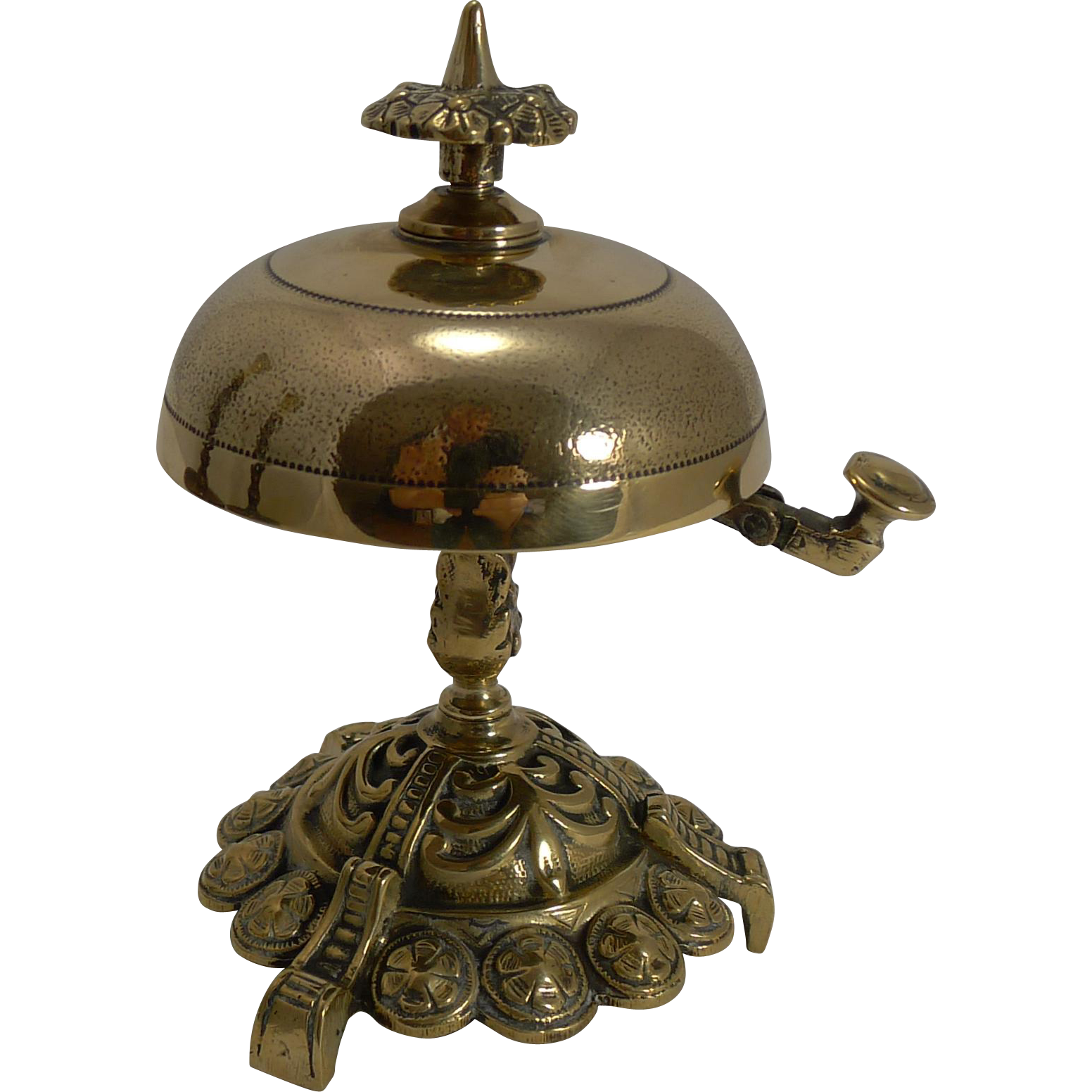 Antique English Brass Desk / Counter Bell c.1870
