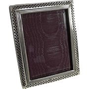 English Victorian Sterling Silver Photograph Frame - 1898