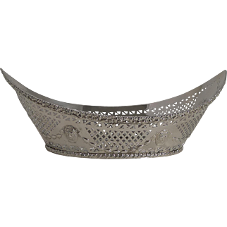 Superb Antique English Silver Plated Bread Basket c.1900
