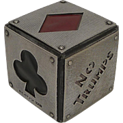 Rare English Trumps Marker - Cube c.1900