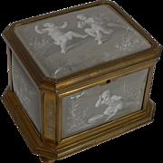 Antique French Limoges Enamel Jewelry Box c.1850