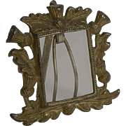 Miniature Brass Photograph Frame - Scottish thistles c.1900
