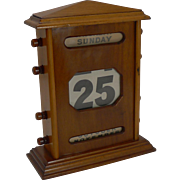 Very Large Antique English Mahogany Perpetual Calendar c.1900