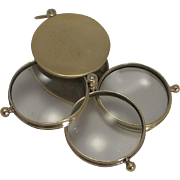 Fine Quality Large Victorian Triple Lens Magnifying Glass c.1890