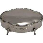 Stylish English Sterling Silver Box by Alexander Clark - 1921