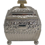 Fine Quality Antique English Sterling Silver Tea Caddy - 1893