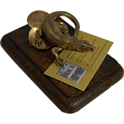 Fabulous Antique English Lizard Letter Clip c.1890