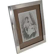 Large English Sterling Silver Photograph Frame - 1924