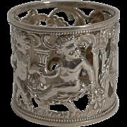 Antique English Figural Napkin Ring - Cherubs - 1901