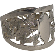 English Sterling Silver Napkin Ring - Shamrocks - 1920