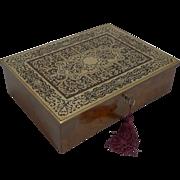 Exquisite Antique English Writing Box by Asprey, London c.1880