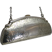 Pretty Antique English Sterling Silver Purse - 1913