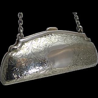 Pretty Antique English Sterling Silver Purse - 1913