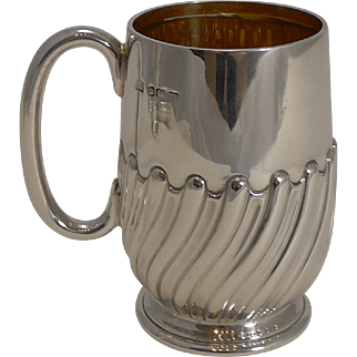 English Sterling Silver Christening Mug / Child's Cup - 1904