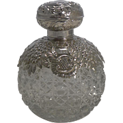 Grand Large Cut Crystal and English Sterling Silver Perfume Bottle
