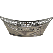 Grand Large Antique English Bread Basket by Mappin and Webb - Silver Plate
