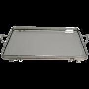 Rare English John Grinsell Convertible Mahogany / Glass Serving Tray c.1900