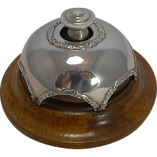 Antique English Sterling Silver Desk or Counter Bell - 1907