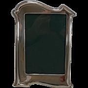 Antique English Art Nouveau Sterling Silver Photograph Frame