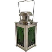 Fabulous Vintage Novelty Swedish Silver Plated and Glass Decanter - Ship's Lantern