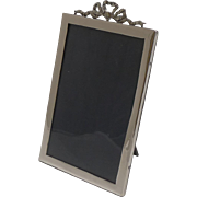 English Sterling Silver Photograph Frame With Ribbon and Bow - 1926