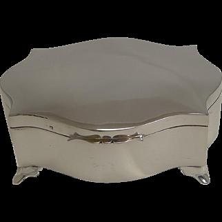 Beautiful English Sterling Silver Jewelry Box - 1921
