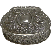 Antique English Sterling Silver Pill or Trinket Box - 1902