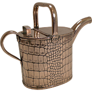 Antique English Copper Watering Can by Joseph Sankey c.1901 - Crocodile Embossed