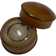 Late 18th Century German Floating Sundial / Compass c.1790