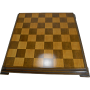 Antique English Wooden Chess Board c.1910
