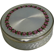 Exquisite Continental 900 Silver and Enamel Box