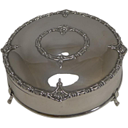 Stunning Antique English Sterling Silver Jewelry Box - 1910