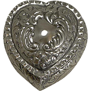 Charming Antique Heart Shaped Pill Box - 1901
