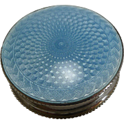 English Sterling Silver and Guilloche Enamel Box - 1926