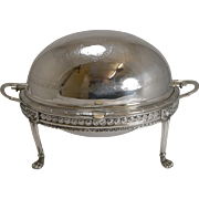 Antique English Silver Plated Revolving Breakfast Dish - Dated April 5th 1880